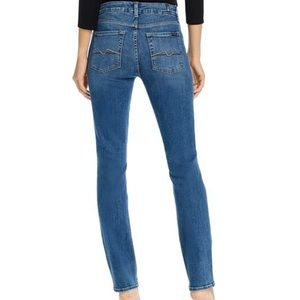 7 For Mankind Kimmie Straight Leg Blue Jeans 25